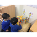Our nursery children exploring people who keep us safe!