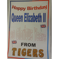Birthday wishes from our Year 5 Tigers