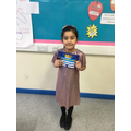Our Superstar for perseverance in her writing!