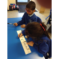 Counting backwards using a number track