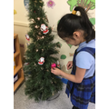 Decorating our Christmas tree!