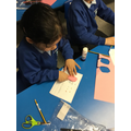 We made flap books based on the Christmas story!