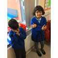 We have used role play to explore the characters the Mole and the Rat!