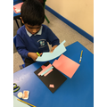 Making Christmas cards for our families!