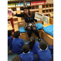 Lunchtime Jackanory in the School Library