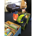 Our rainy visit to the library!