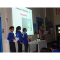 Our Remembrance service in school.