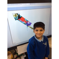 Using 2Paint to create rockets to celebrate Bonfire night