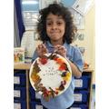 Making autumnal wreaths