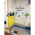 Welcome to our garden themed reading area!