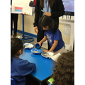 Investigating waterproof materials.