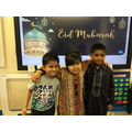 All dressed up for our Eid party!