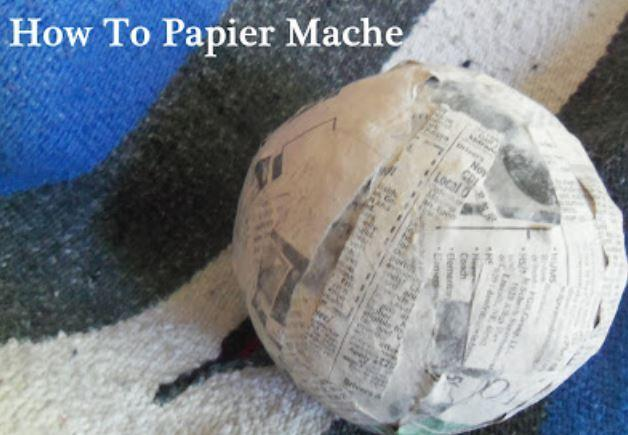 1. A step by step guide to making Papier Mache!