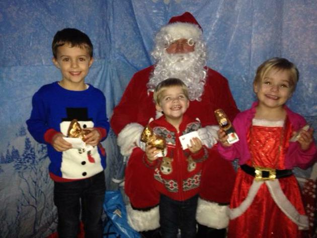 Wow!  A visit from Father Christmas!