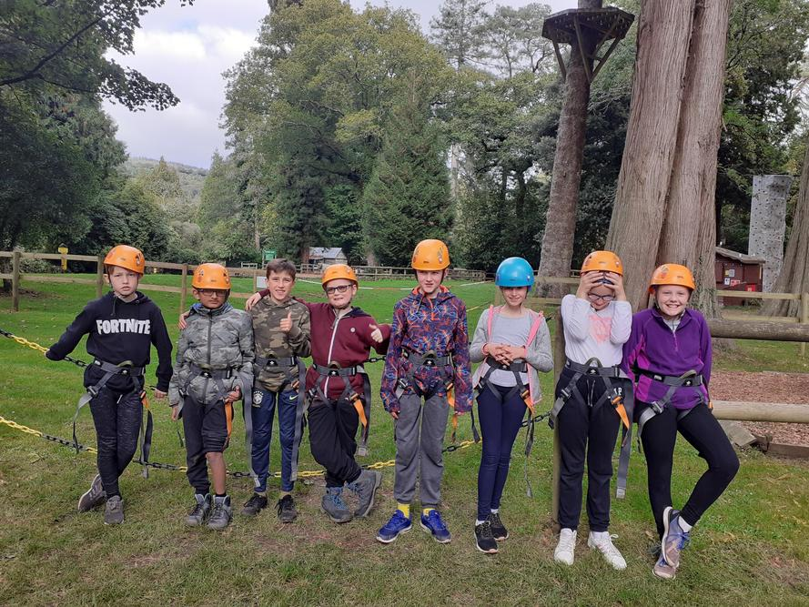 Just before the zipwire