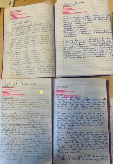 Speech writing in English.