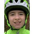 Mary on a muddy bike ride