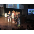 Receiving the award from Christine Gilbert