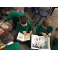 Sharing books when we arrive in a morning