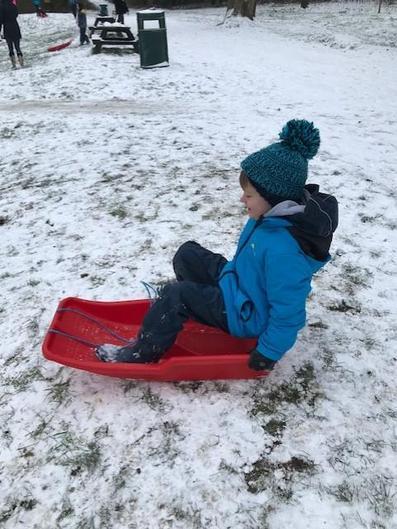 Harry sledging!