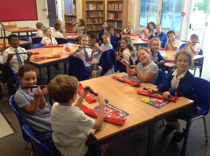I think Year 4 were excited to have their first recorder lesson today!