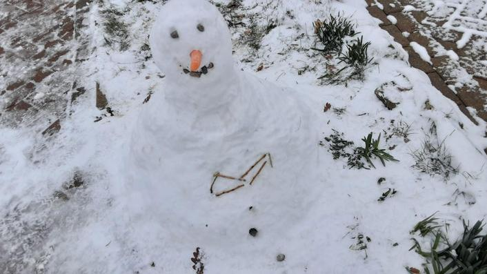 Abigail's little snow man!