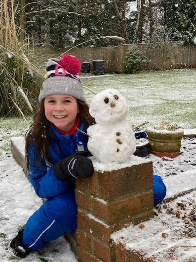 Martha's mini snowman!