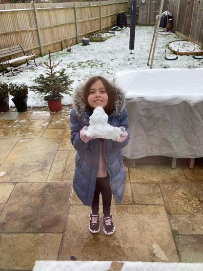 Annabelle enjoying the snow!