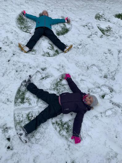 Snow Angel time for Phoebe!