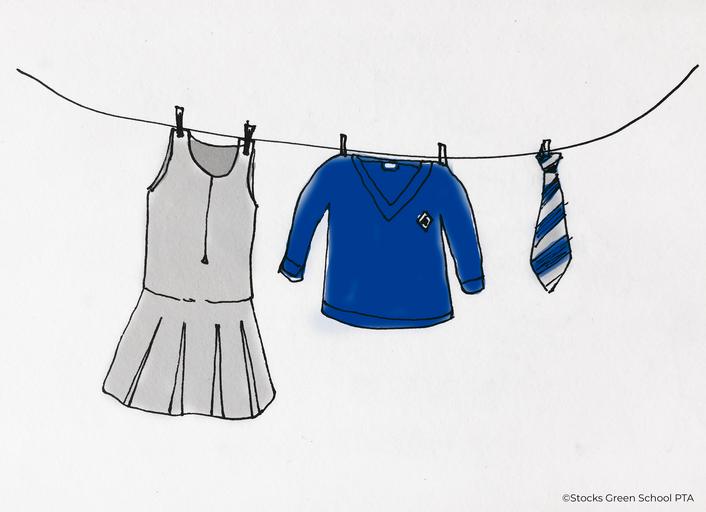 Uniform washing line ©Drawanddesignbylucyg