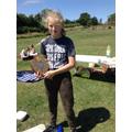 Emily winning the Sports Shield