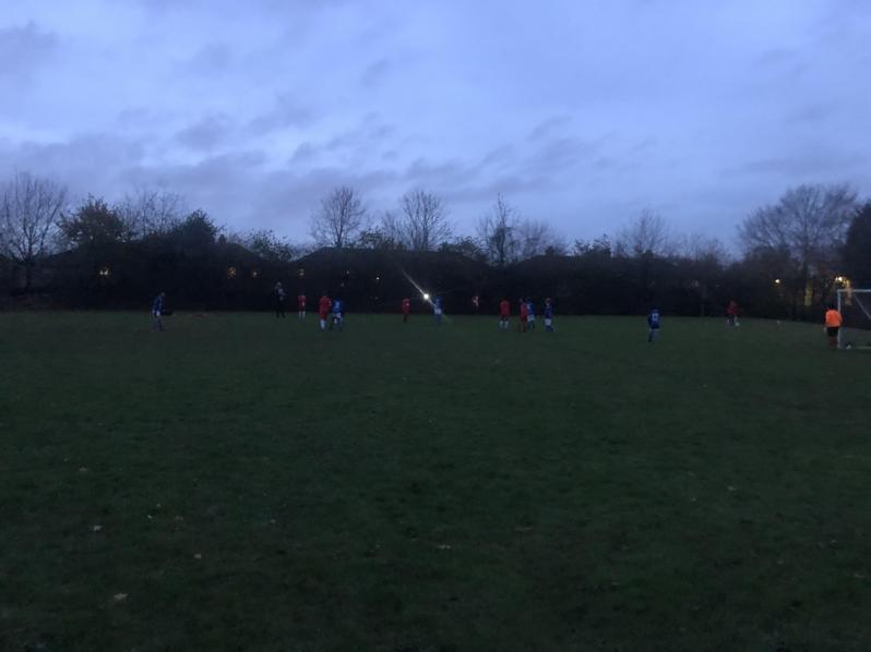 Boy's Football Team Against Aldermoor Farm