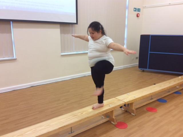 Year 2 Practising Their Dynamic Balance