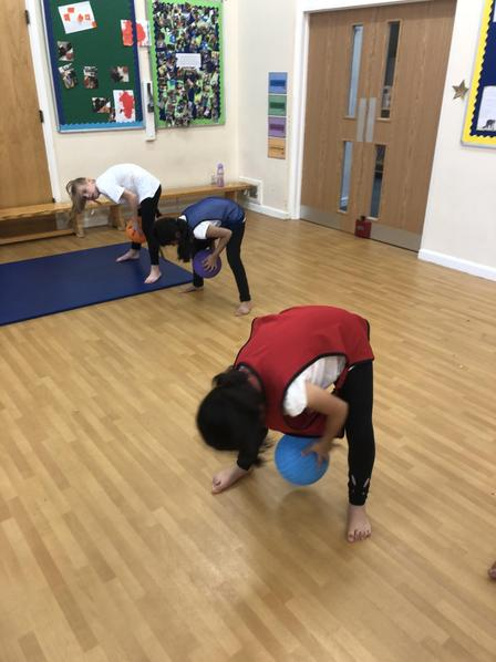 Year 5 Working on Their Ball Handling