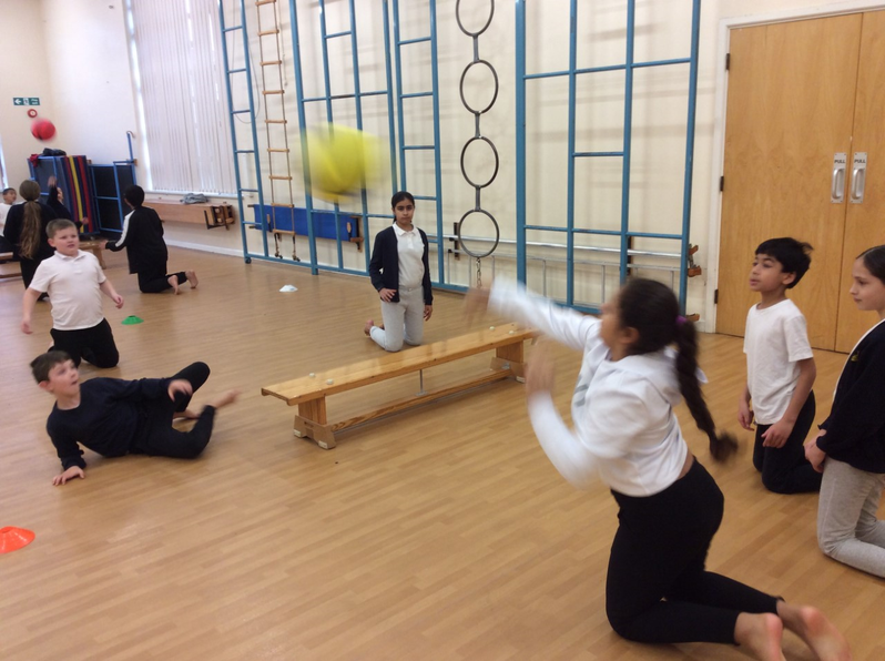 Year 6 Seated Volleyball