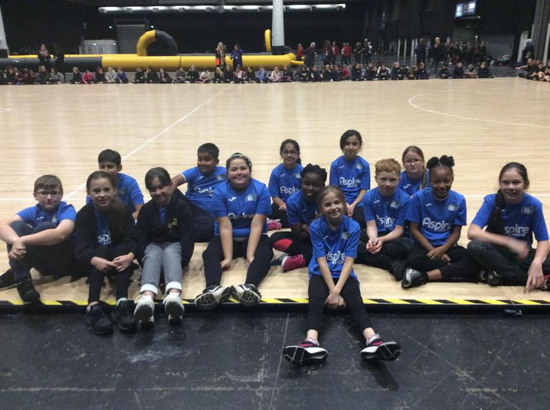 Our Netballers at the Wasps Community Day