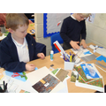 Making our collages for our book.