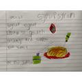 Eli's fantastic food poem!