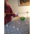 Spaghetti and marshmallow construction challenge.