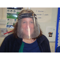 It was so wet that Mrs.Roberts couldn't see!
