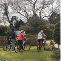 Lucy Griffiths out and about on two wheels