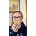Miss Hartley and her giant cookie!