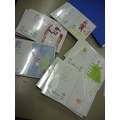 Pupils designed Christmas Cards for sale.