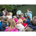 Mrs Vipond explaining compost.