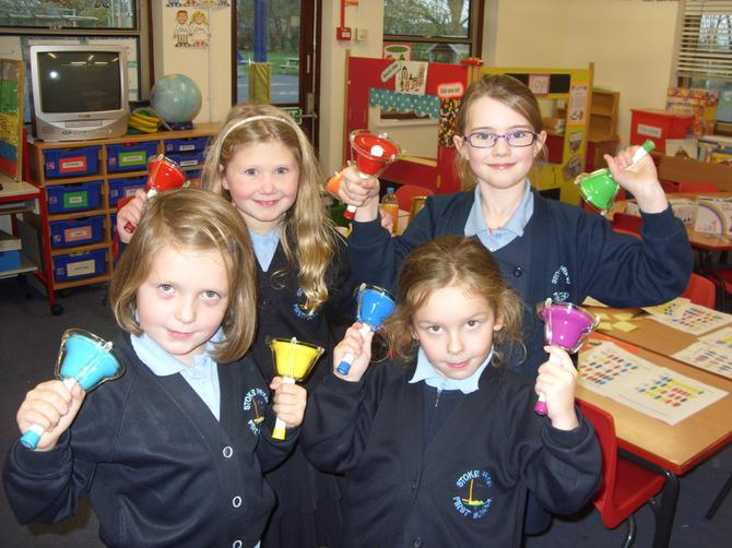 Our first ever handbell ringing club.