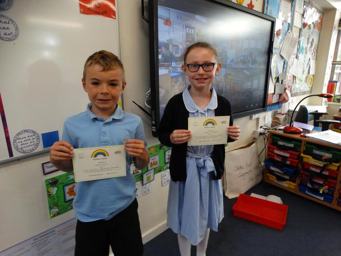 Awarded for a great attitude towards learning.