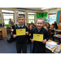 Year 3 pupils who were awarded Rainbow Certificates, for showing kindness 30.4.21