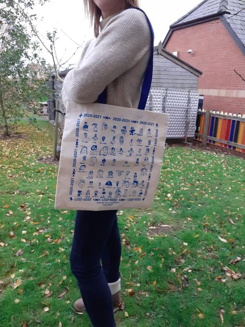 The design of our eco bags and tea towels