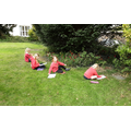 Drawing plants in the churchyard