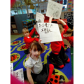 Writing during our phonics session